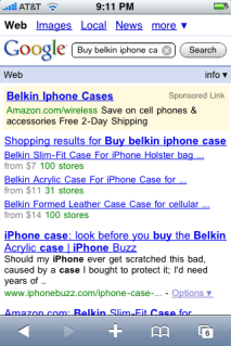 apple iphone google mobile shopping 3