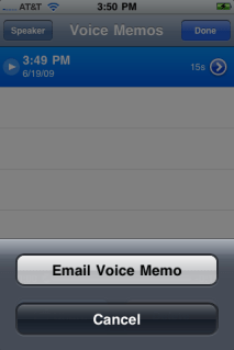 apple iphone voice memos share
