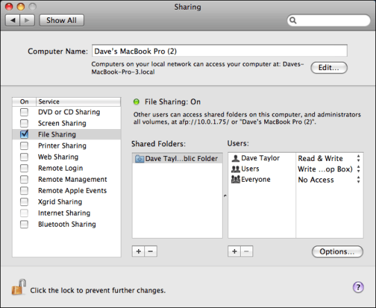 apple mac system preferences sharing