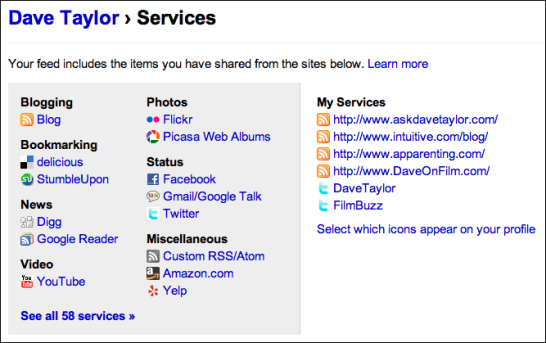 friendfeed profile services