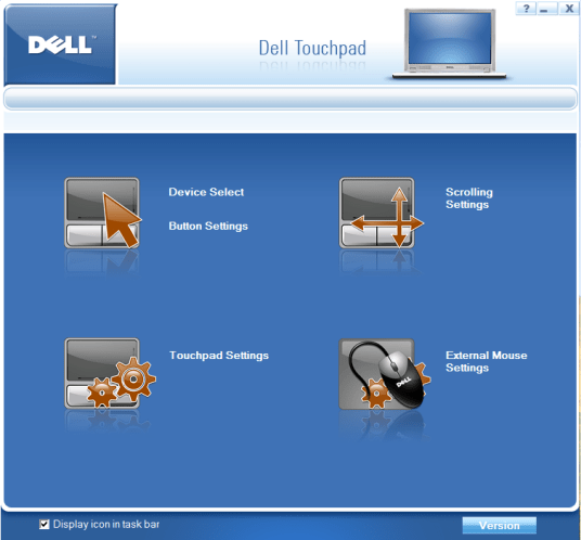 vista dell touchpad preferences customization