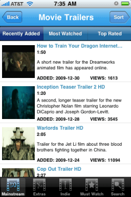 trailerspy mobile movie trailers