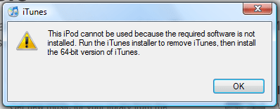 windows vista itunes not installed correctly
