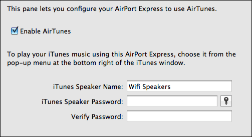 airport express airplay remote speakers password 4