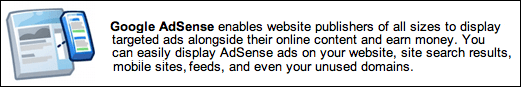 google adsense advert blurb