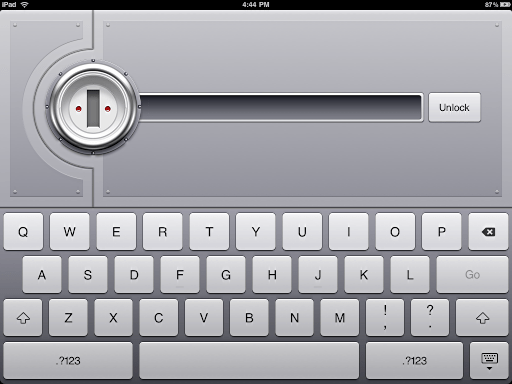 ipad 1password unlock screen