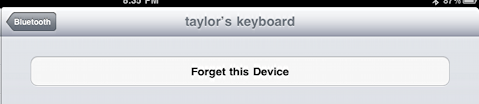 ipad bluetooth keyboard forget device