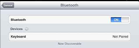 ipad bluetooth keyboard not paired or named