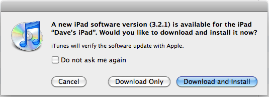ipad firmware software update 1