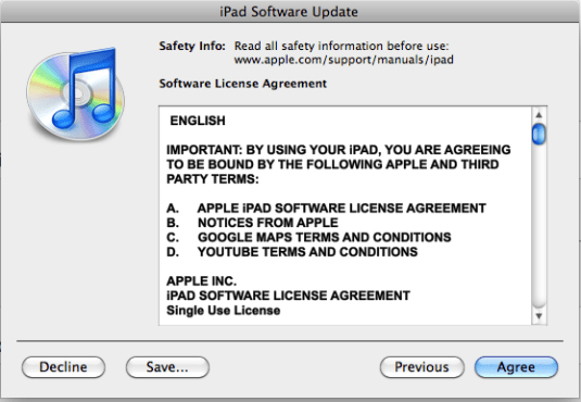 ipad firmware software update 7