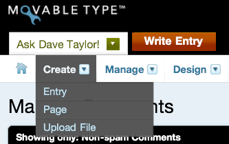 ipad movable type blog create entry