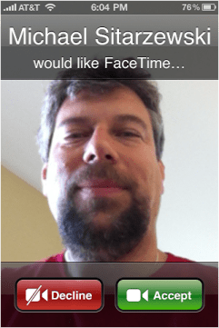 iphone 4 facetime 5