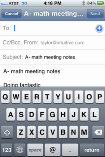 iphone email note notes 3