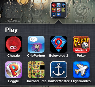iphone fave games folder