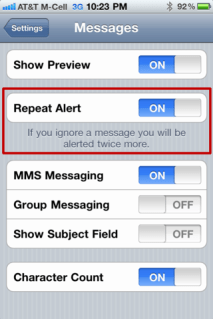 iphone stop disable multiple text message notify 3
