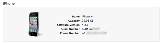 itunes iphone show imei iccid 1