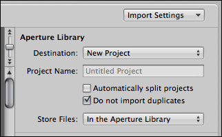 mac aperture import photo settings