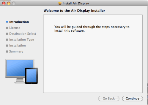 mac ipad air display installer