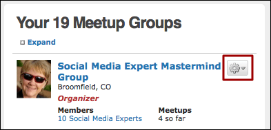 meetup manage groups