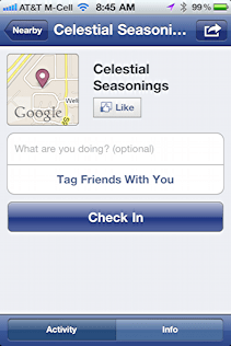 check in facebook celestial seasonings