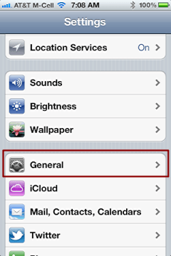 iphone change language settings 1