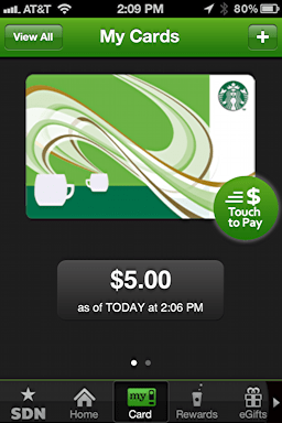 iphone starbucks transfer card balance 2