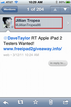 iphone twitter report tweet spam 2