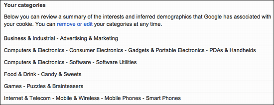 google ad settings 1