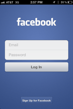 iphone facebook app logout 4