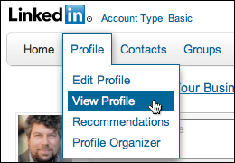 linkedin export resume profile 1