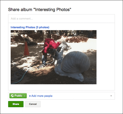 picasa google photos upload embed 4