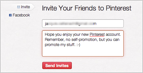 pinterest add invite friend 3