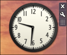 win7 add clock gadget widget 4