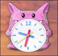 win7 add clock gadget widget 6