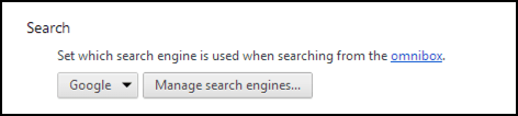 chrome change search engine