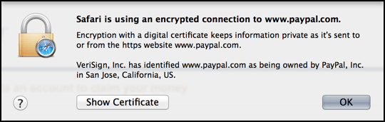 paypal security certificate
