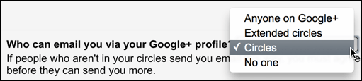 options for google plus gmail privacy
