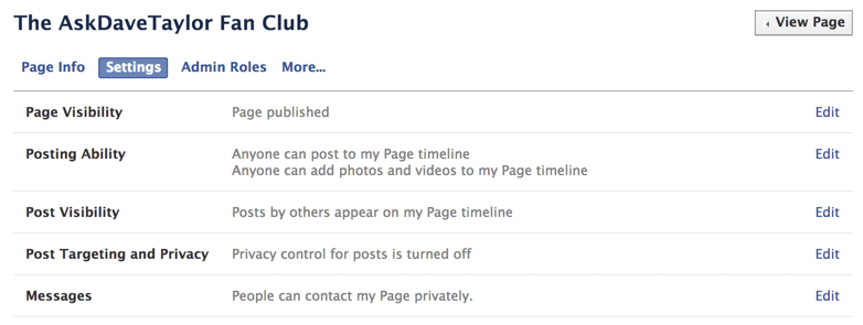 customize your page settings
