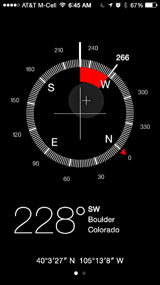 veering off course in the compass app