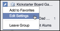 notification settings for facebook group