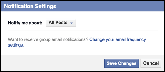 Change Facebook Group Notifications