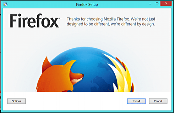 installing firefox instead of internet explorer, yipee