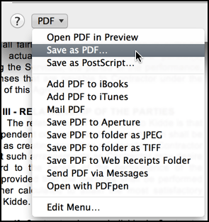 mac print save as pdf