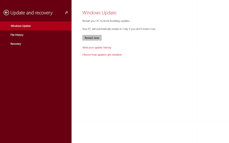 update ready to install, windows 8.1 tablet