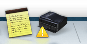 Epson printer low on ink warning, Mac os x