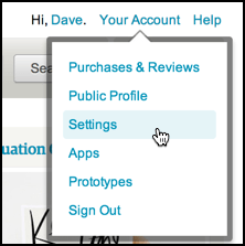 etsy account settings menu preferences privacy security