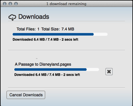 mycloud download progress