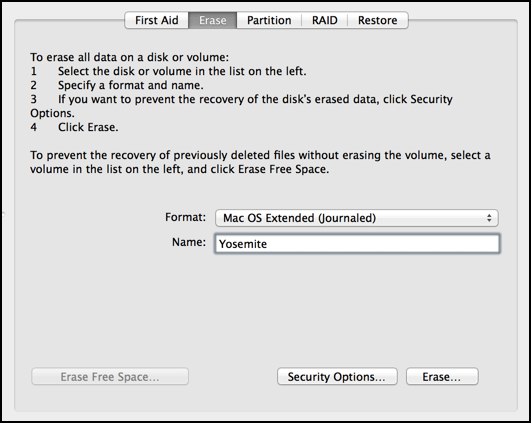 flash drive external isn't bootable format mac extended