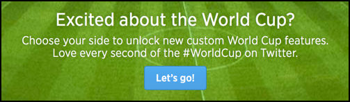 bling your twitter page for the 2014 world cup