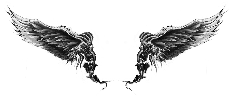 Unique wings tattoo concept
